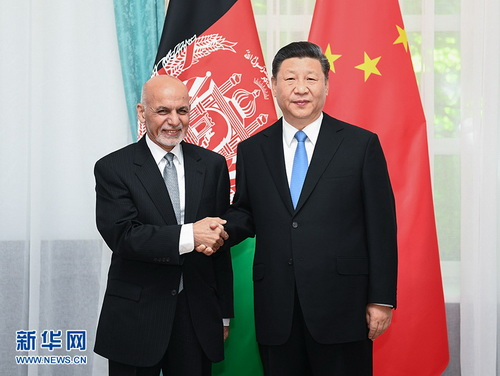 Xi Jinping Meets with President Mohammad Ashraf Ghani of