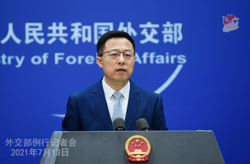 ph.china-embassy.org: Foreign Ministry Spokesperson Zhao Lijian's Regular Press Conference on July 13, 2021