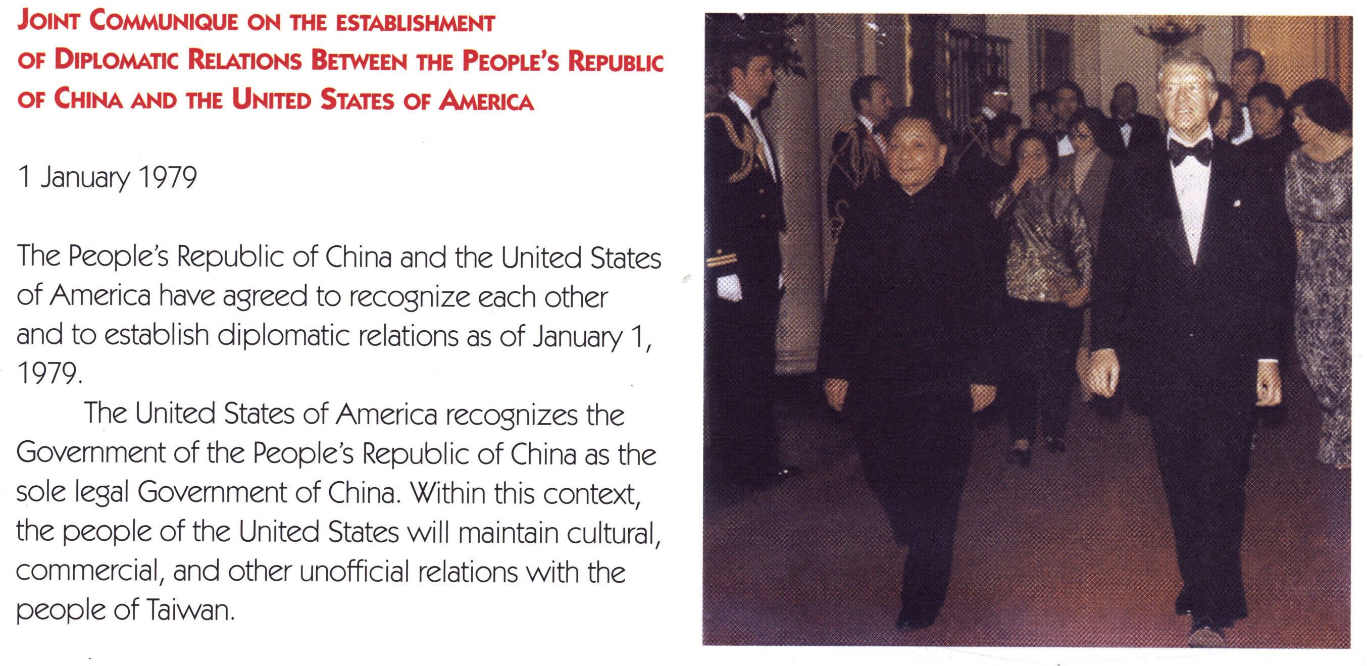 Establishment of diplomatic relations between China and the United States