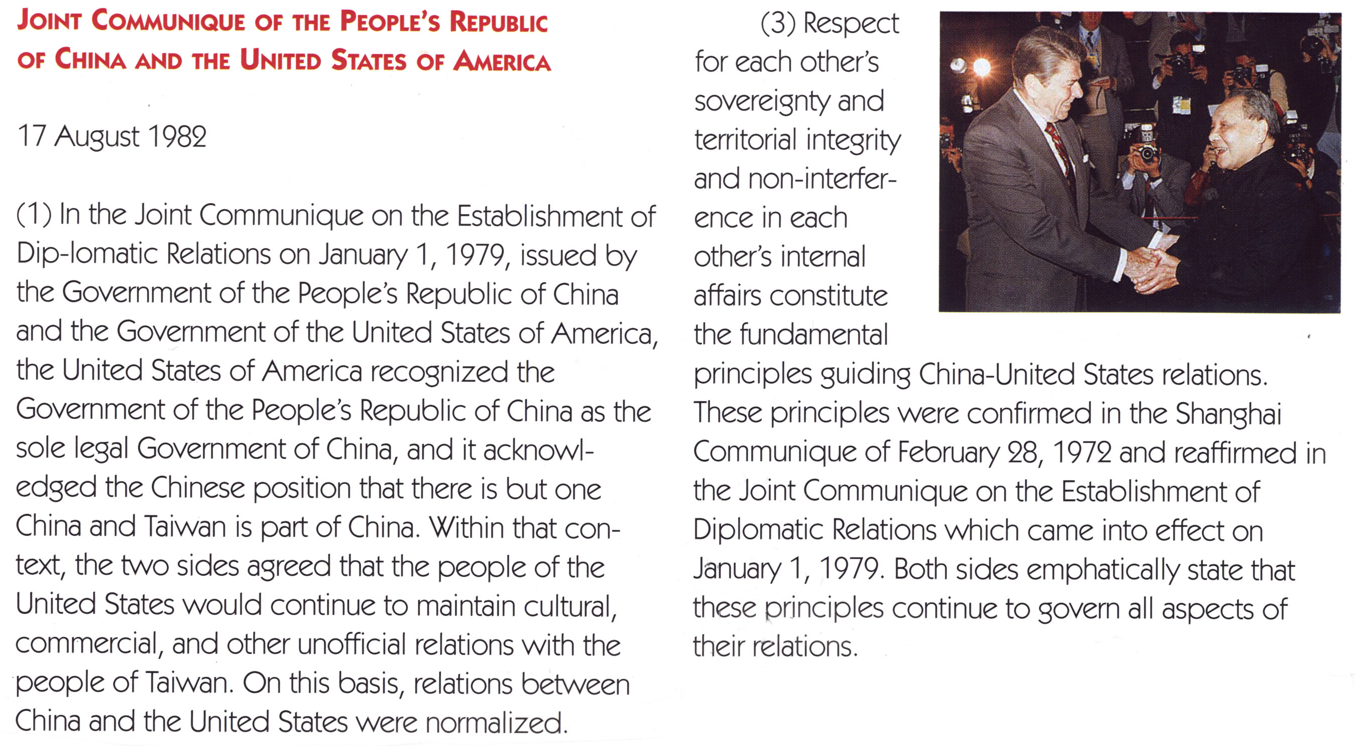Moments in China-U S  Relations