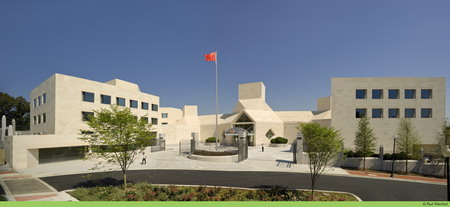 The Chinese Embassy Building Is Located In The Northwest Of Washington Dc It Covers An Area Of   E E A With A Floor Area Of   E E A