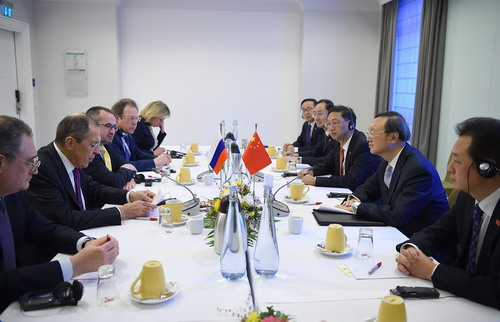 Yang Jiechi Meets with Foreign Minister Sergey Lavrov of