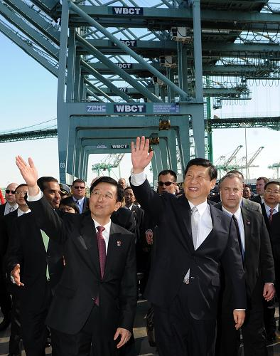 xi jinping inspects china shipping group s los angeles terminal