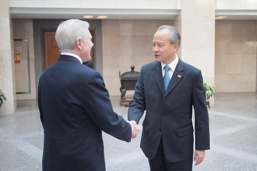 Vice Foreign Minister Cui Tiankai Meets with U S  Secretary